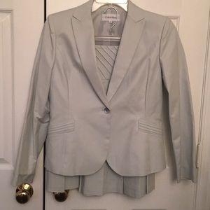 2 piece suit. Lt blue grey. 97% Cotton, 3% Spandex